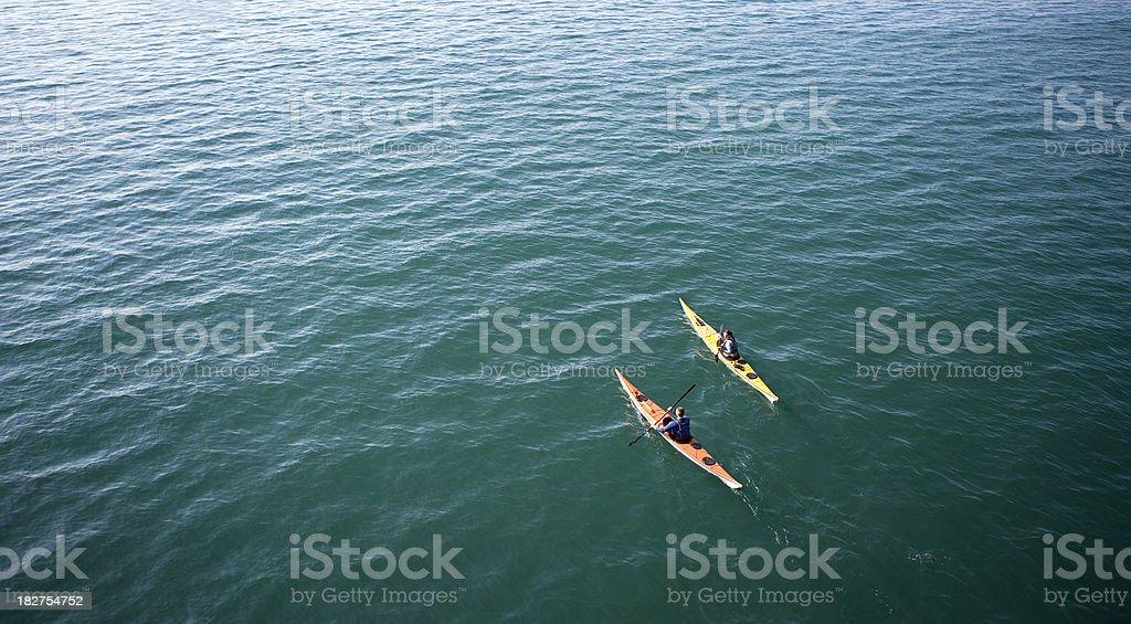 Sea Kayaks stock photo