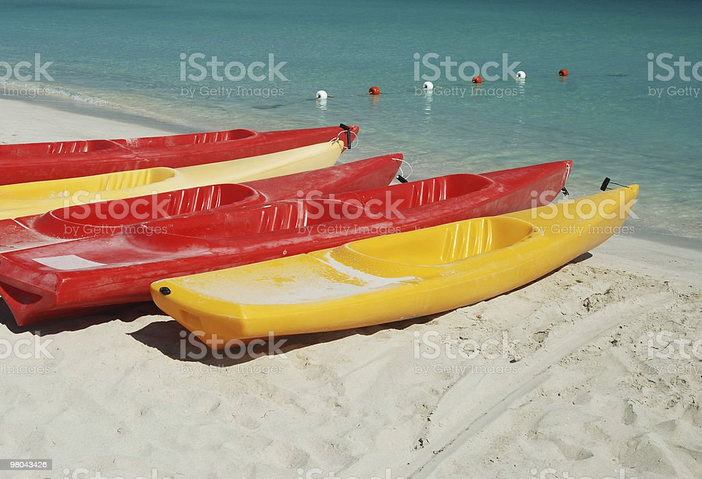 Sea kayaks royalty-free stock photo