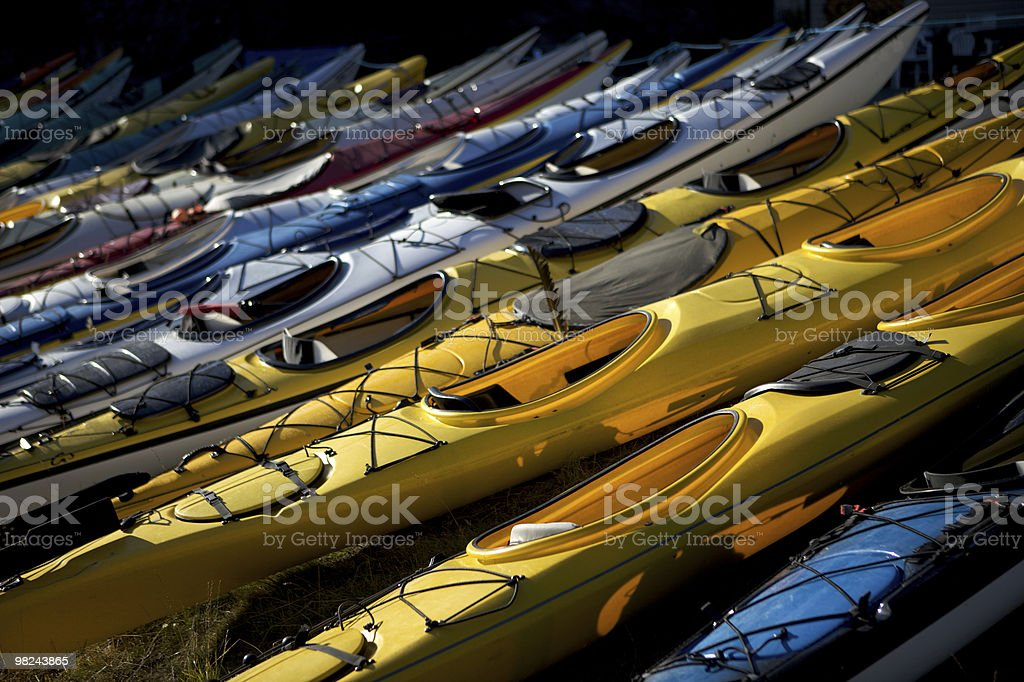 Sea Kayaks ready to go royalty-free stock photo