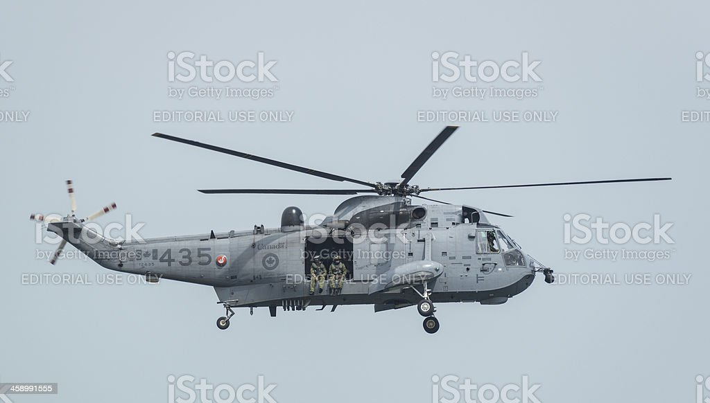 Sea King Flyby stock photo
