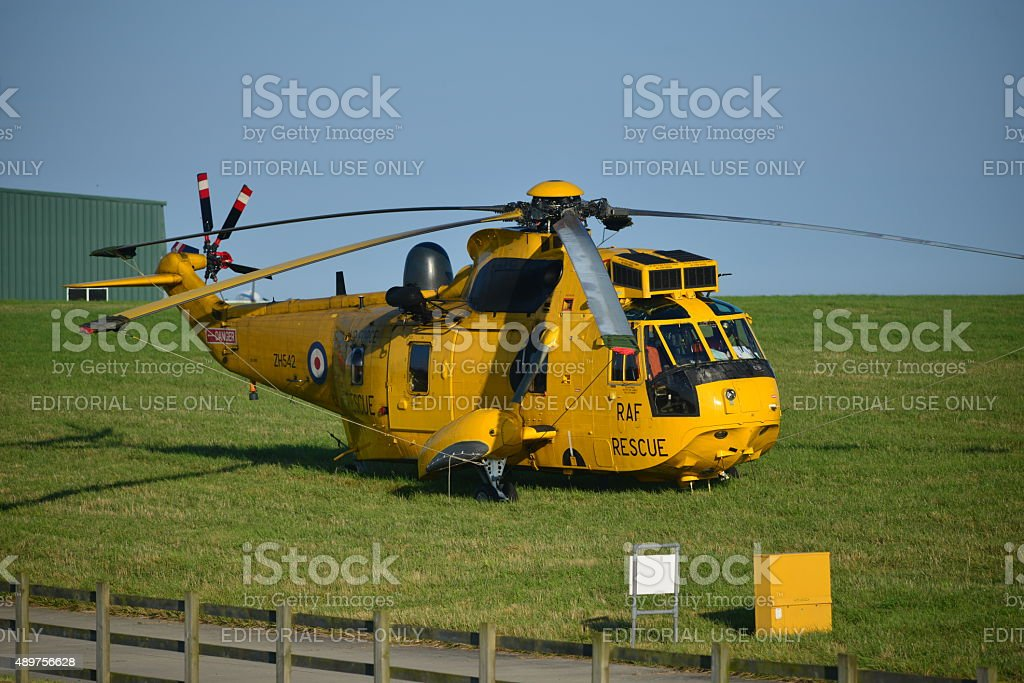 Raf Sea King Helicopter Uk Stock Photo - Download Image Now