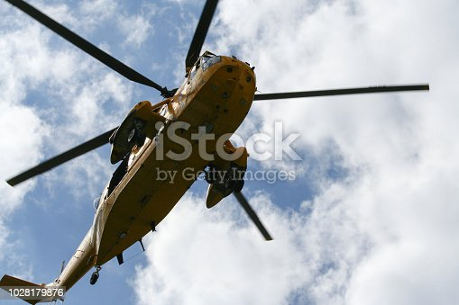 Sea King Search and Rescue Helicopter From Below