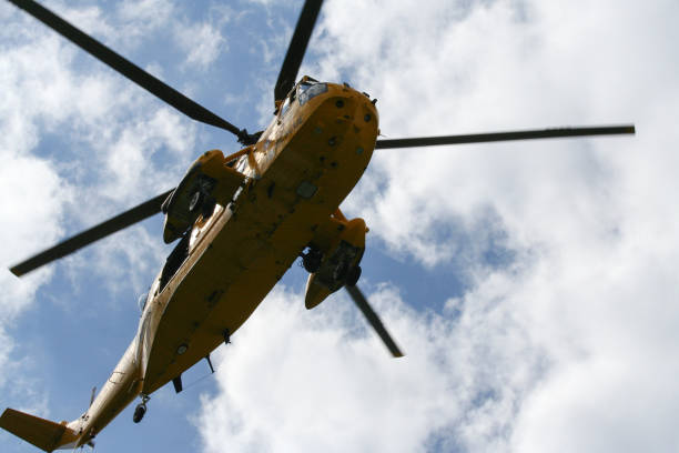 Sea King Search and Rescue Helicopter stock photo