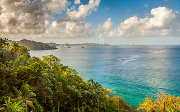 Sea Lagoon in Greanada stock photo