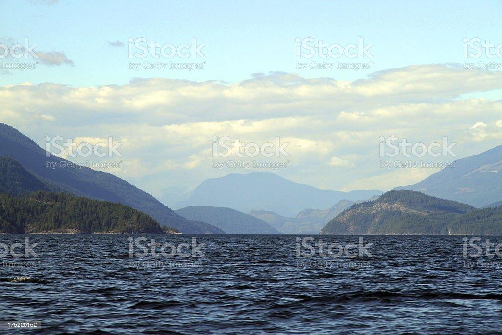 Sea, Land and Sky stock photo