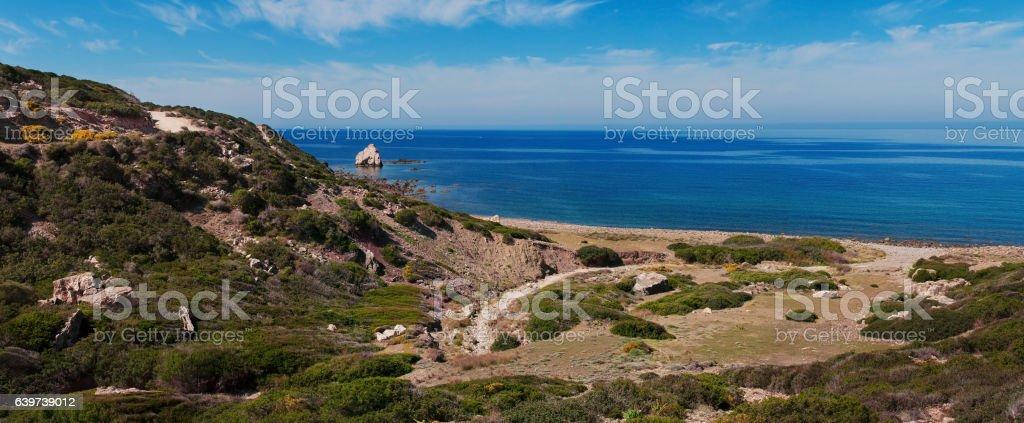 Sea landscape panoramic stock photo