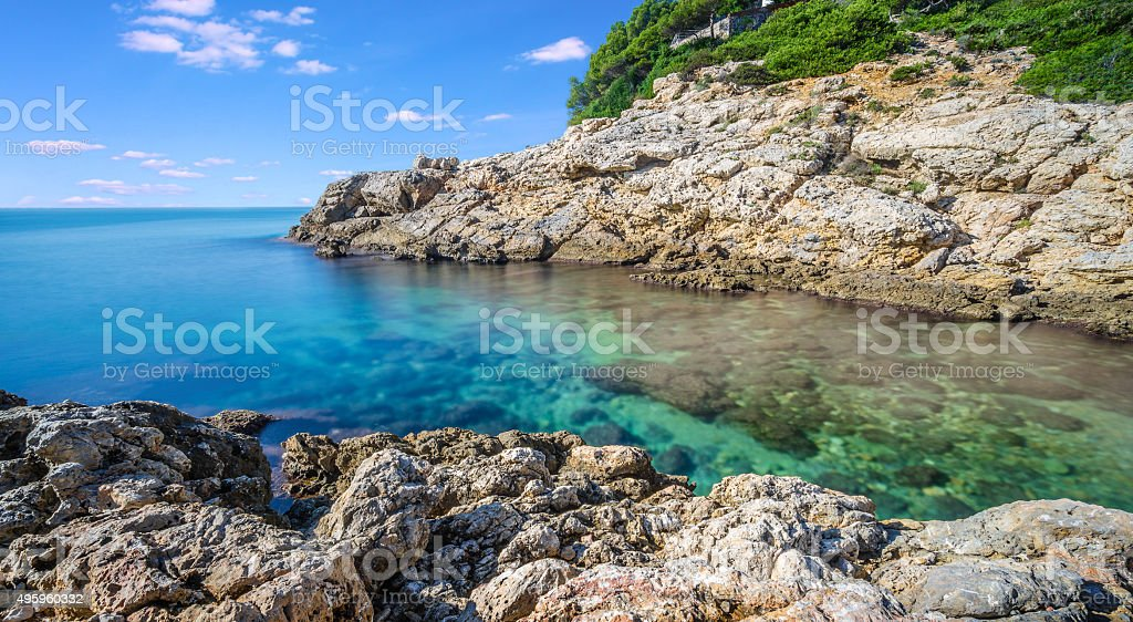 Sea Landscape Salou Spain stock photo