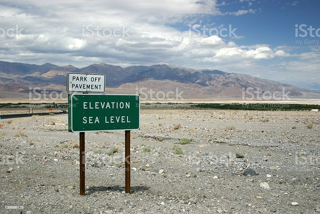Sea Level in Death Valley stock photo