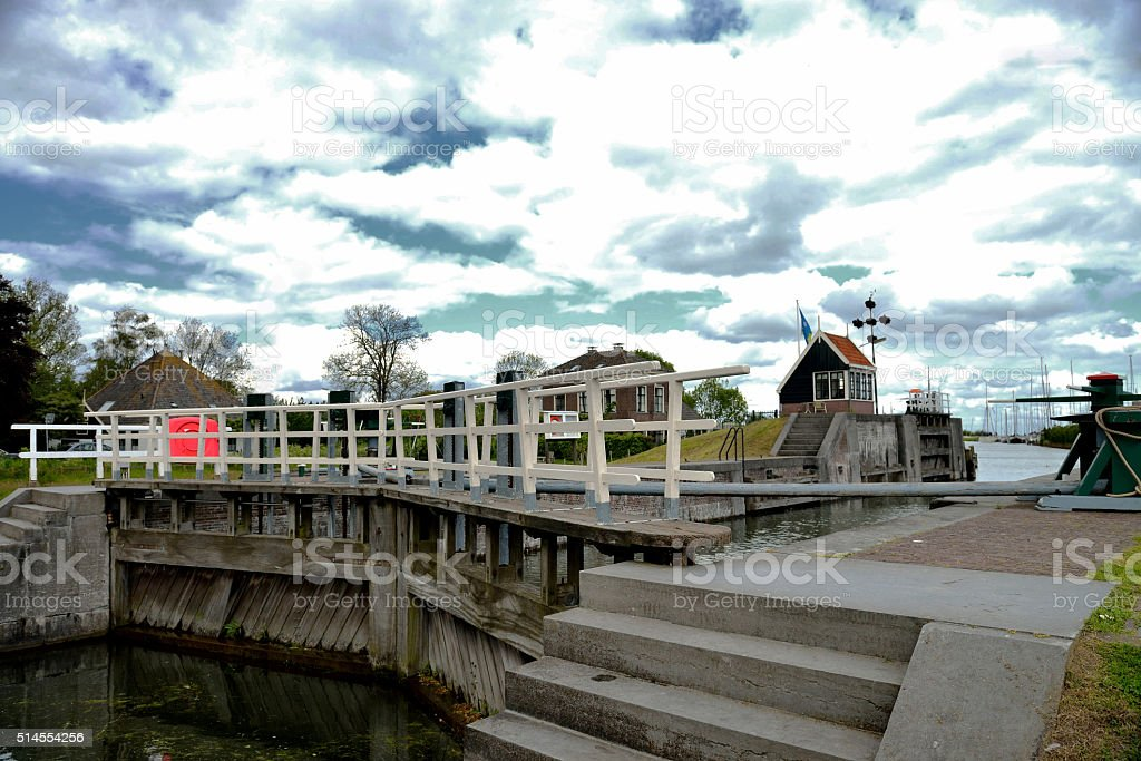 Sea locks Edam,the Netherlands stock photo