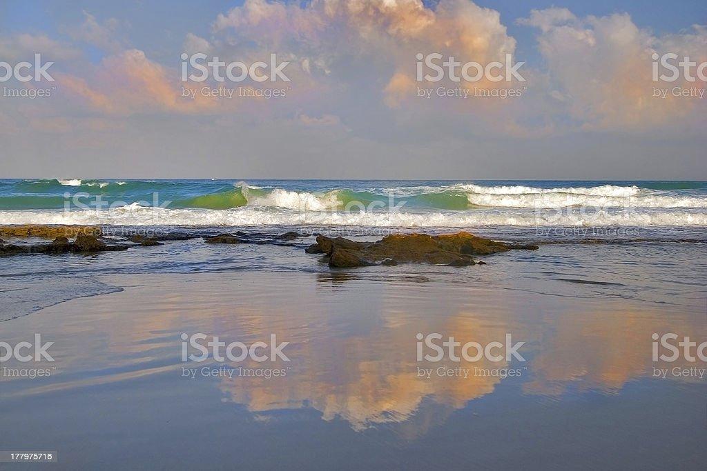 Sea mirror royalty-free stock photo