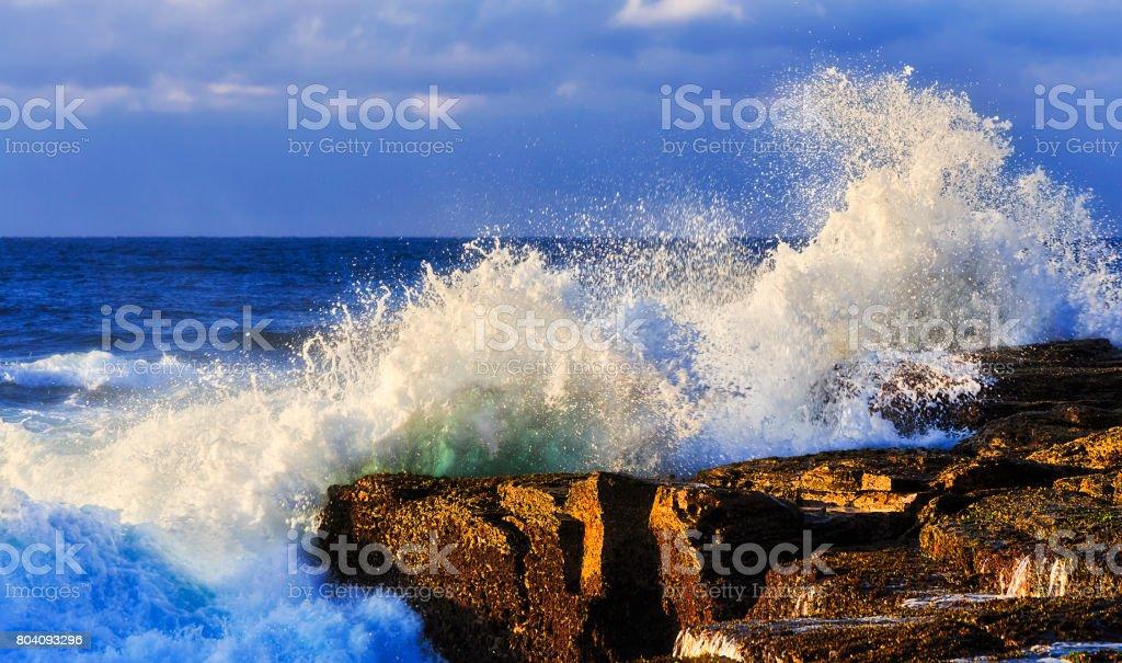 Sea Narrab Wave Rock stock photo