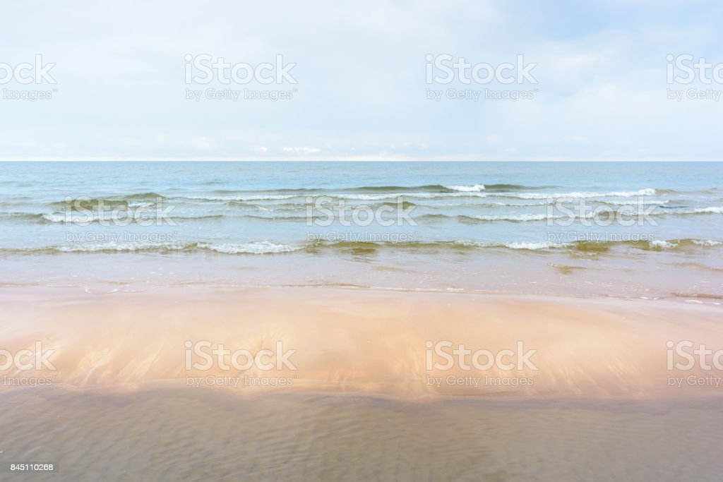 Sea nature sandy beach stock photo