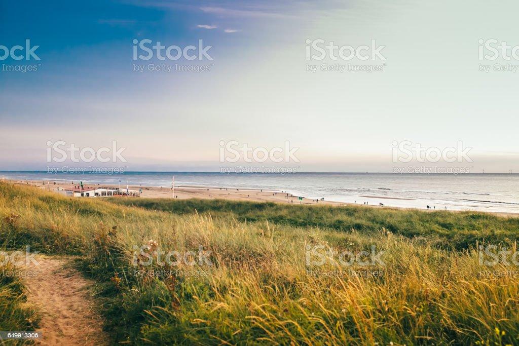 sea netherlands lighthouse stock photo