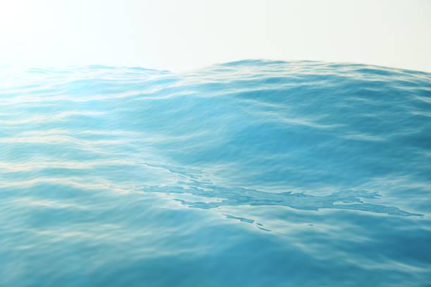 sea, ocean wave and blue sky background with focus effects - digital surfer stock-fotos und bilder