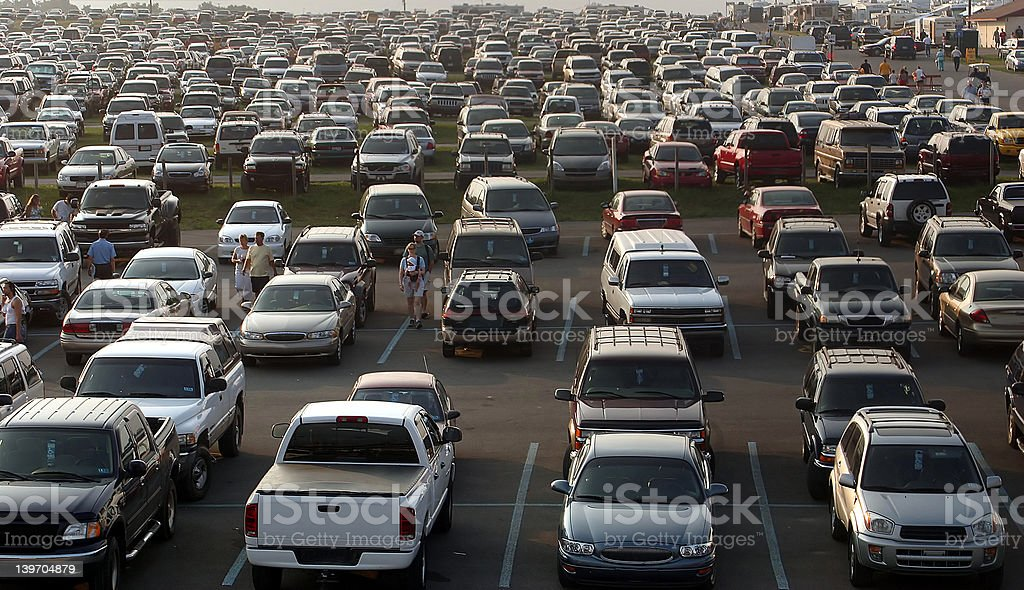 Sea Of Cars stock photo