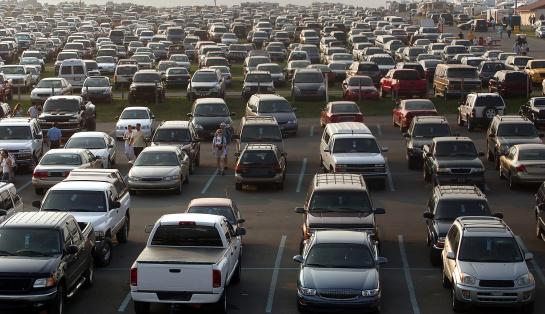 Mar De Automóviles Foto de stock y más banco de imágenes de Aire libre
