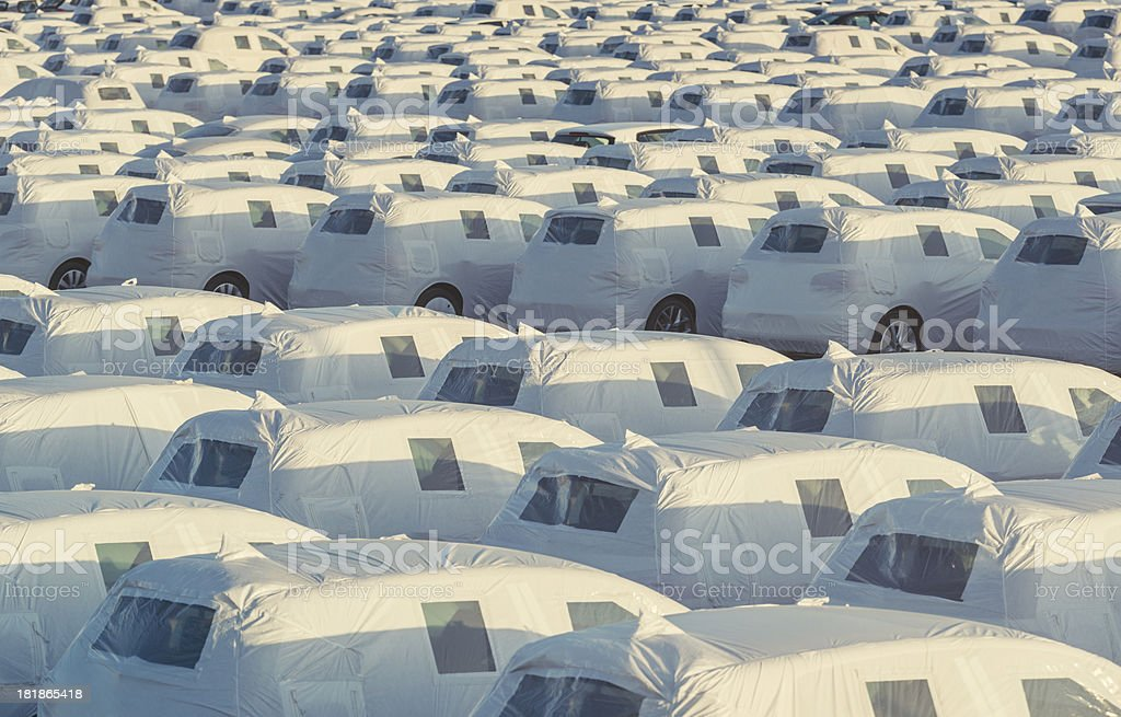 Sea of Cars royalty-free stock photo