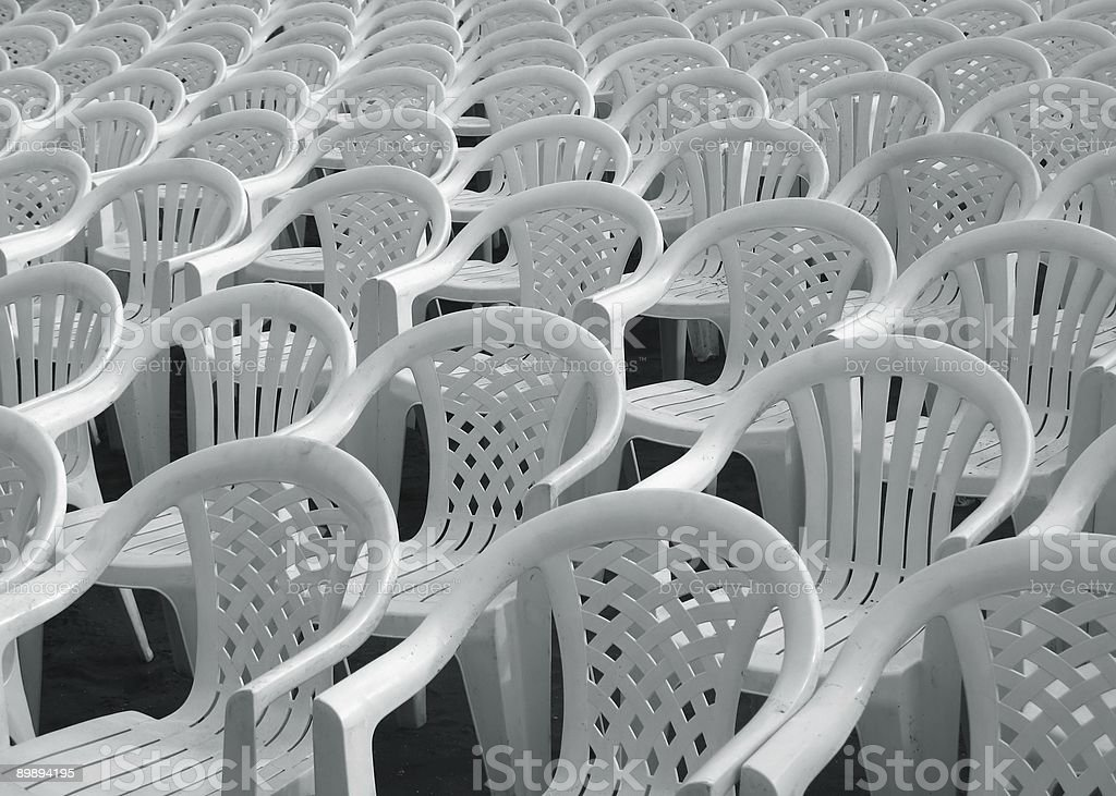 Sea of Chairs royalty-free stock photo