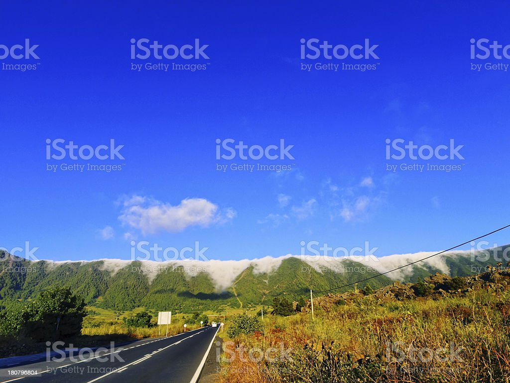 Sea of Clouds on La Palma royalty-free stock photo