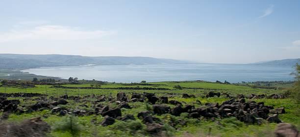 Sea of Galilee in northern Israel stock photo