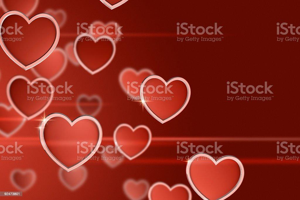 Sea of hearts royalty-free stock photo