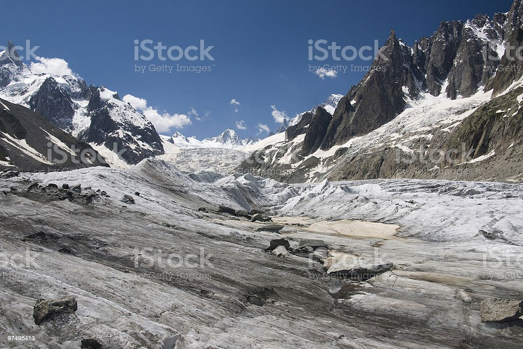 Mer de Glace, Chamonix, France royalty-free stock photo