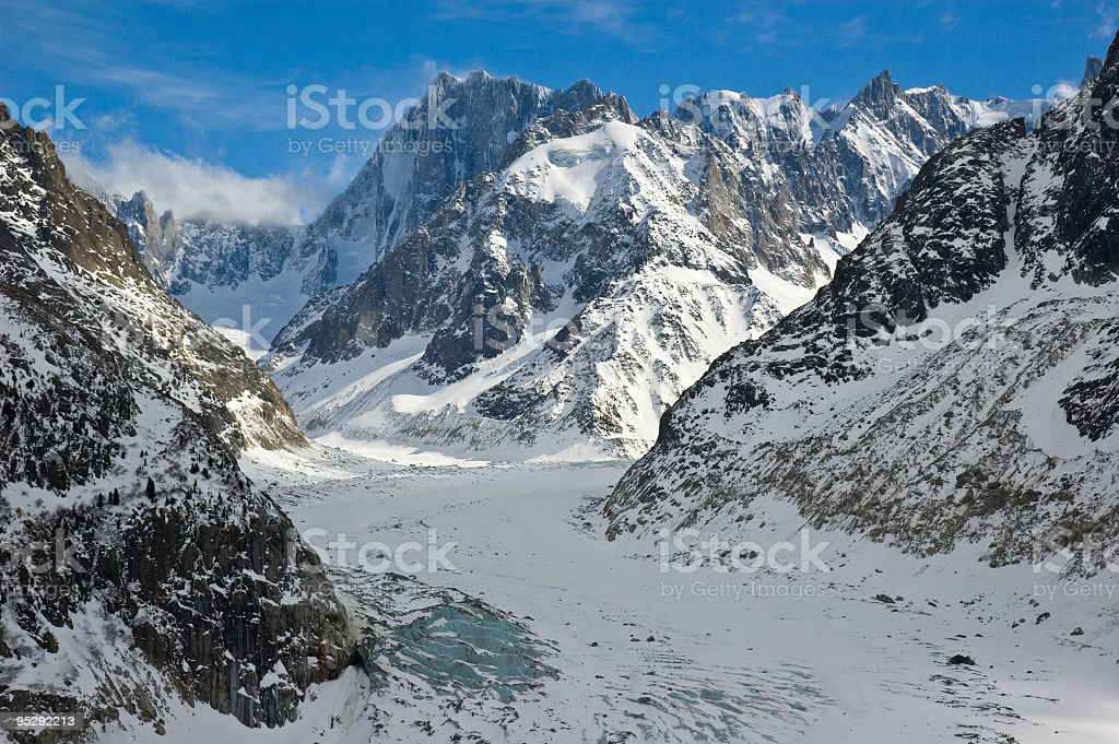 Sea of ice stock photo