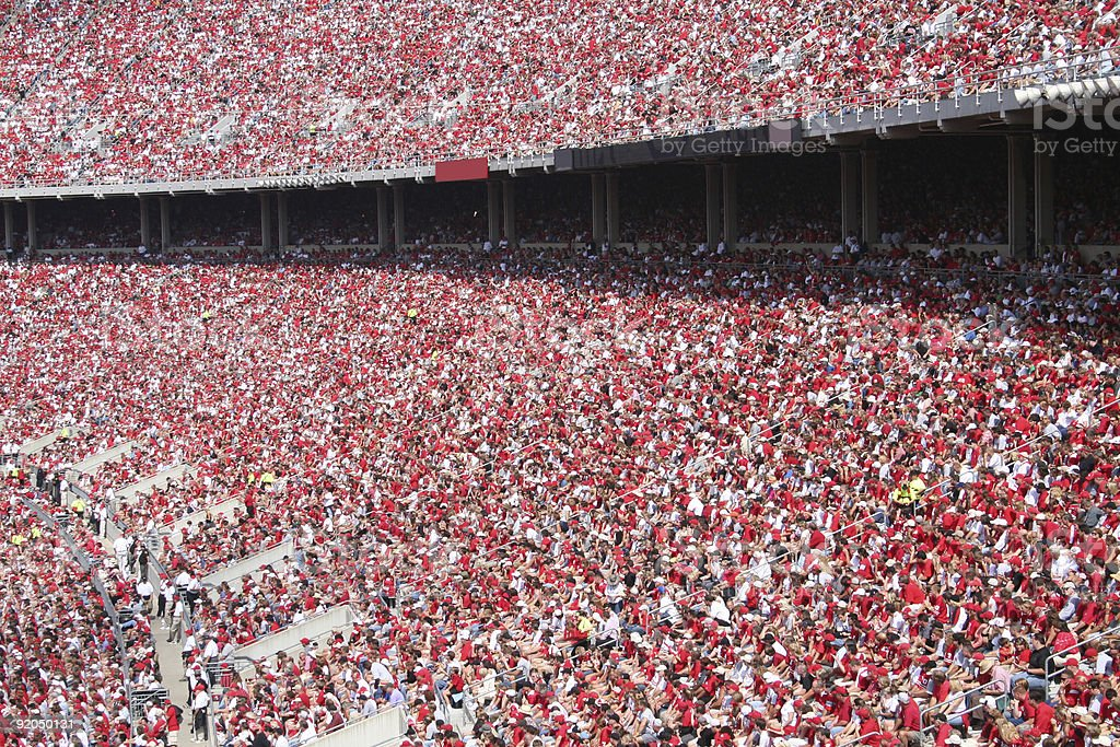 sea of red royalty-free stock photo