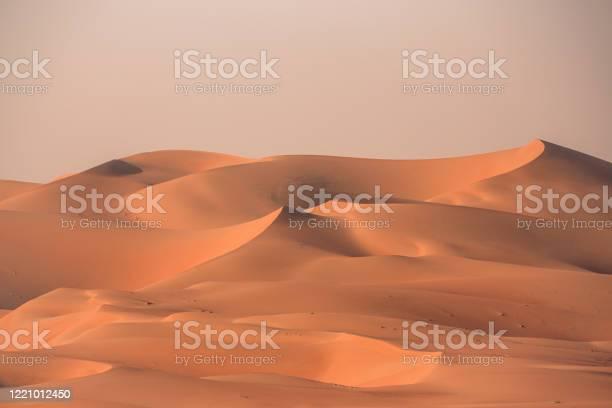 Sea Of Sand Rub Al Khali Desert Dunes Vae Stockfoto und mehr Bilder von Abenddämmerung