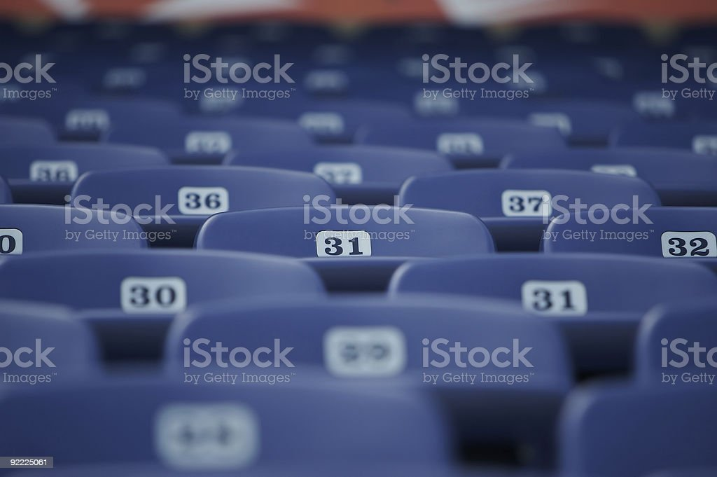 Sea of stadium seats royalty-free stock photo