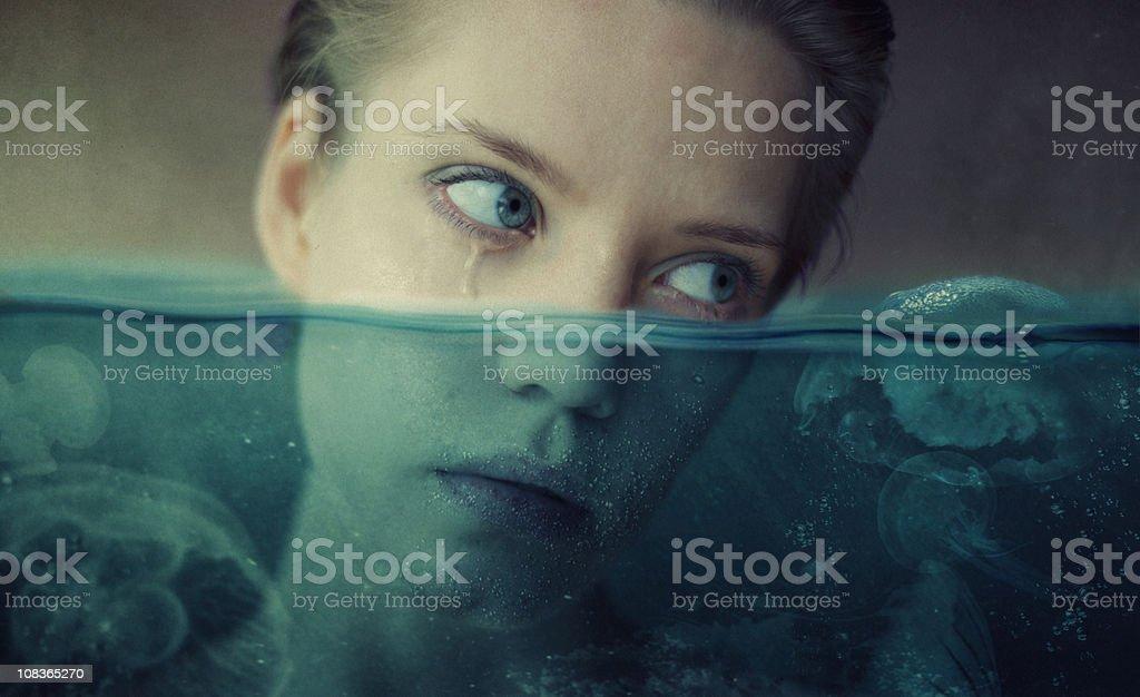 sea of tears stock photo