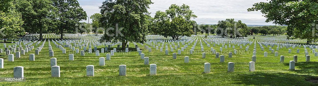 Sea of Tombstones at Arlington National Cemetery, Virginia, USA royalty-free stock photo