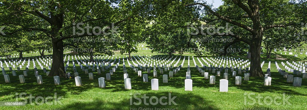 Sea of Tombstones at Arlington National Cemetery, Virginia, USA stock photo