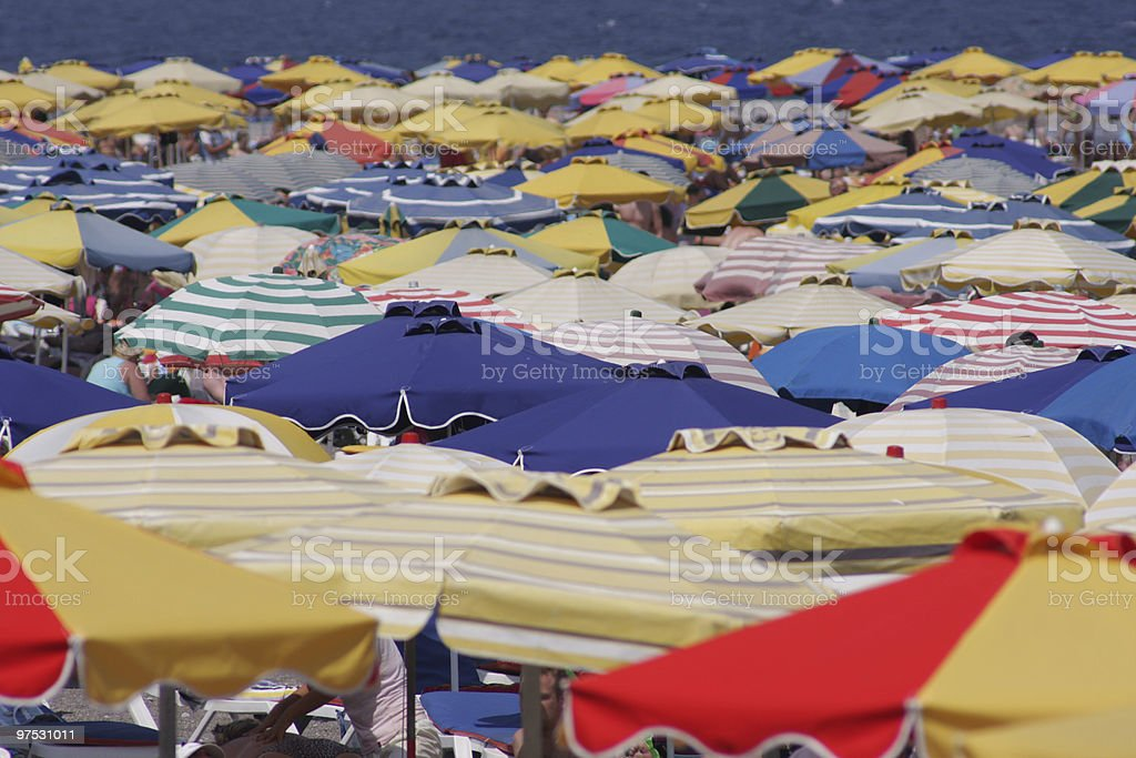 Sea of umbrellas royalty-free stock photo