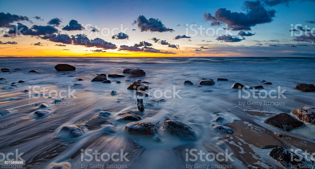 sea on the Baltic coast photo libre de droits