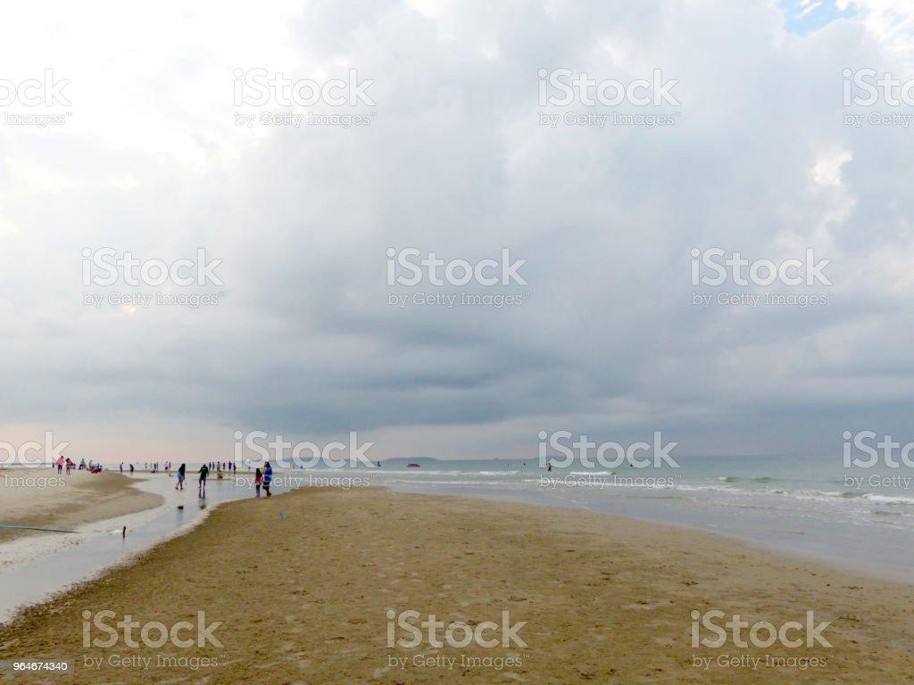 sea on the sand beach royalty-free stock photo