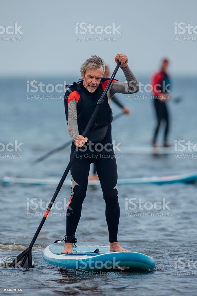 Sea Paddleboarding stock photo