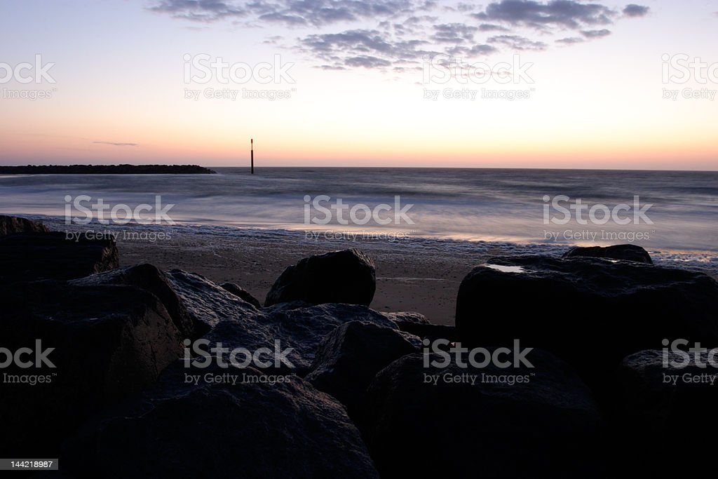 Sea Palling Morning. stock photo