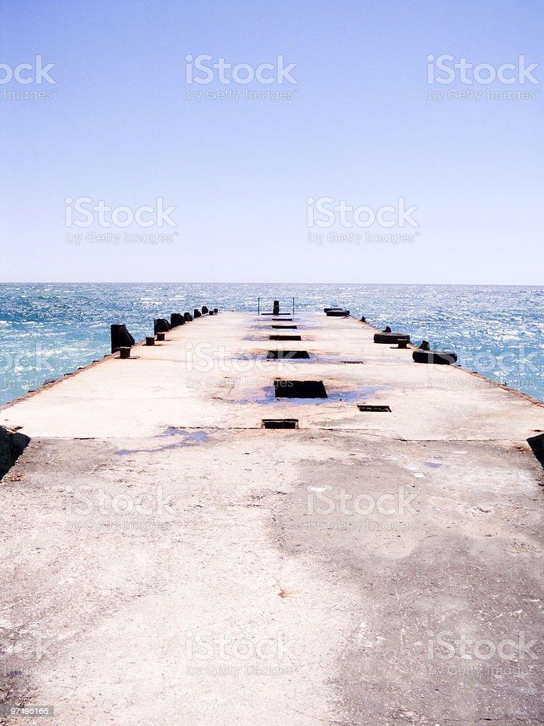 Sea pier royalty-free stock photo