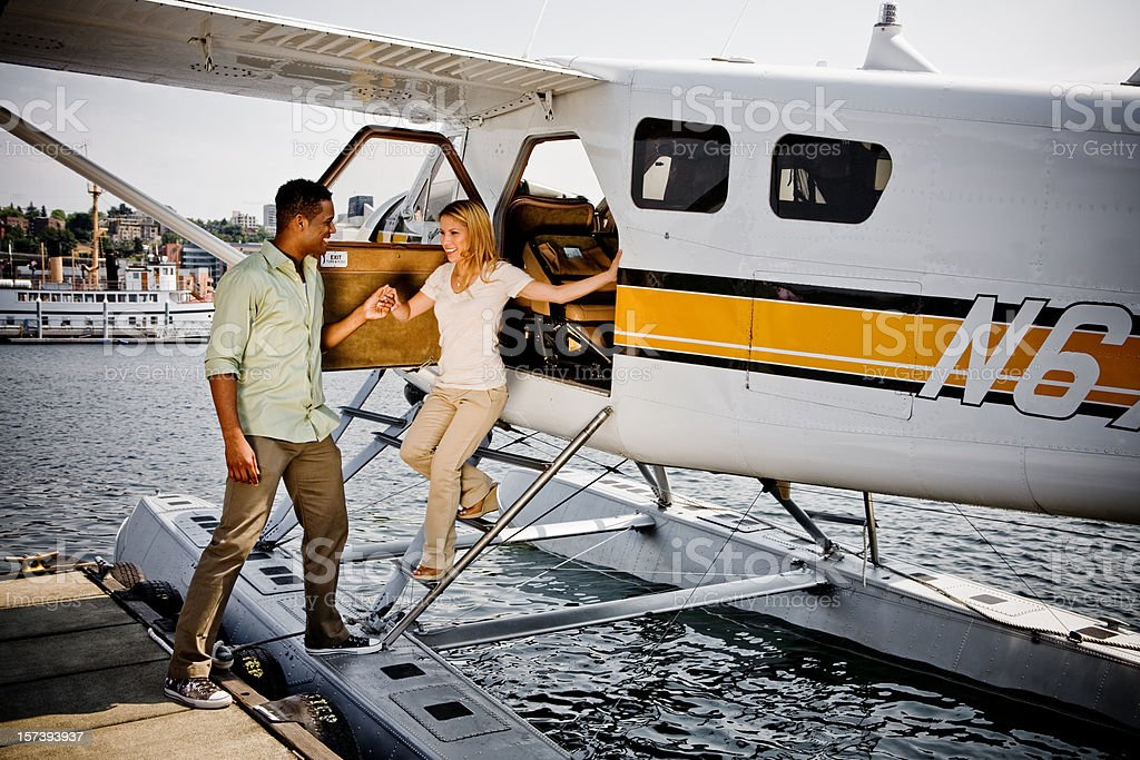 Sea Plane Deaprture royalty-free stock photo