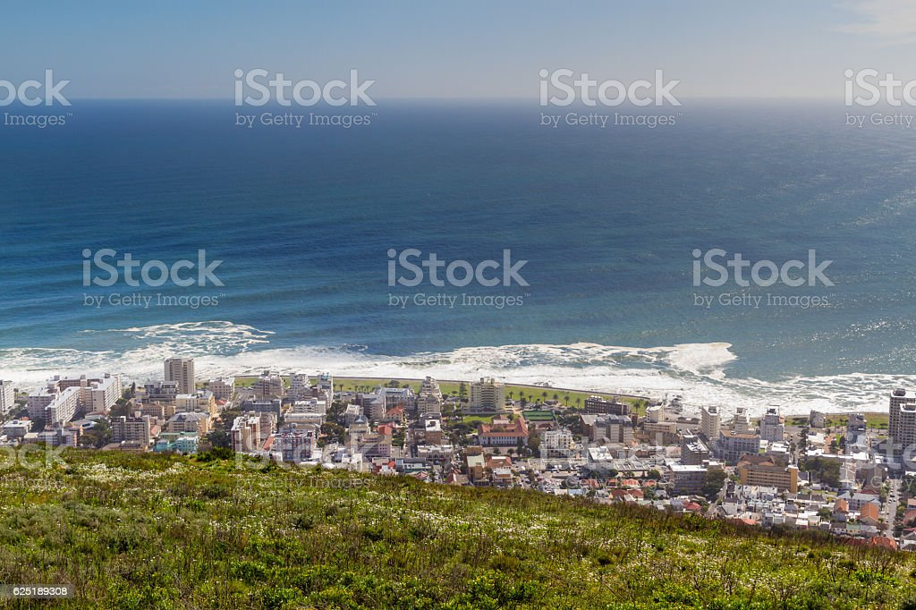 Sea Point from Signal Hill stock photo