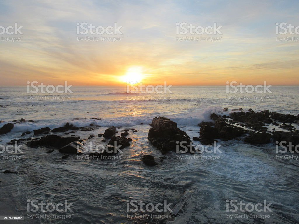Sea Point Sunset South Africa stock photo