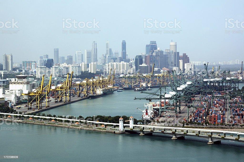 Sea Port Activities royalty-free stock photo