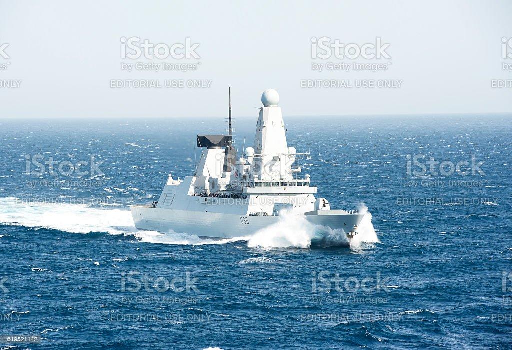 Sea Power, Arabian Sea stock photo