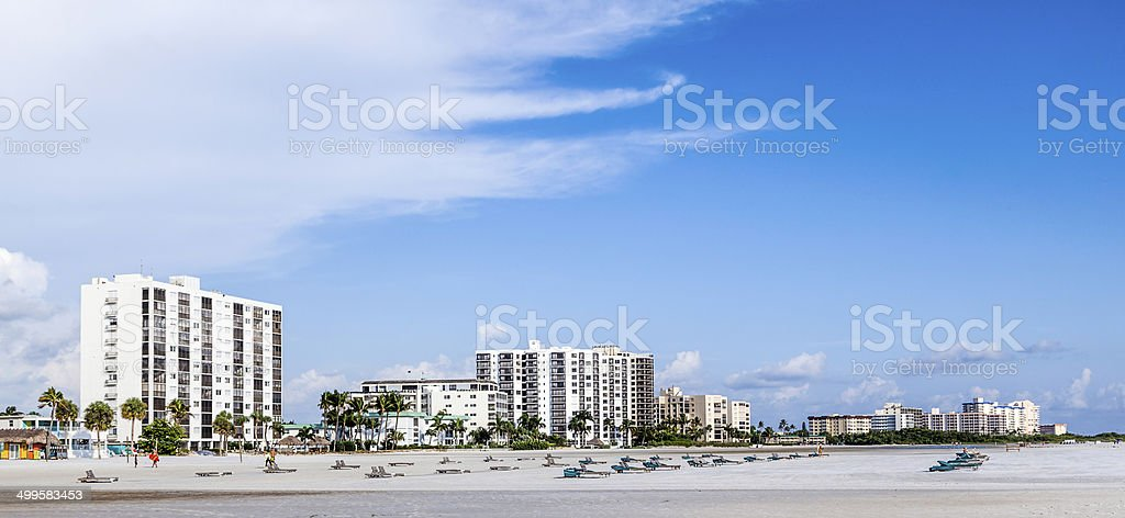 sea promenade at Fort myers Beach stock photo