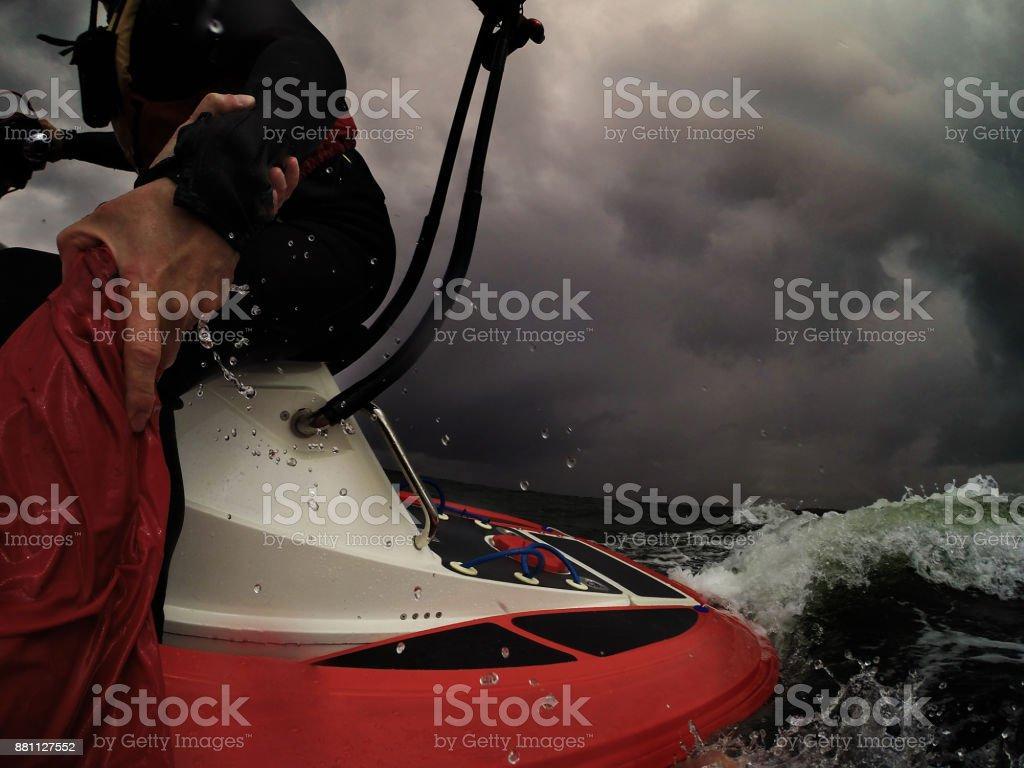 Sea Rescue Boat stock photo