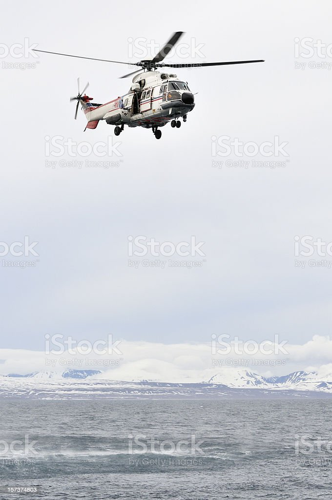 Sea rescue helicopter royalty-free stock photo