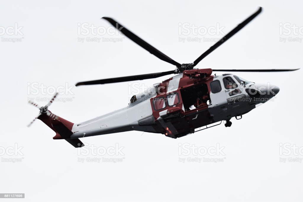 Sea Rescue Helicopter stock photo
