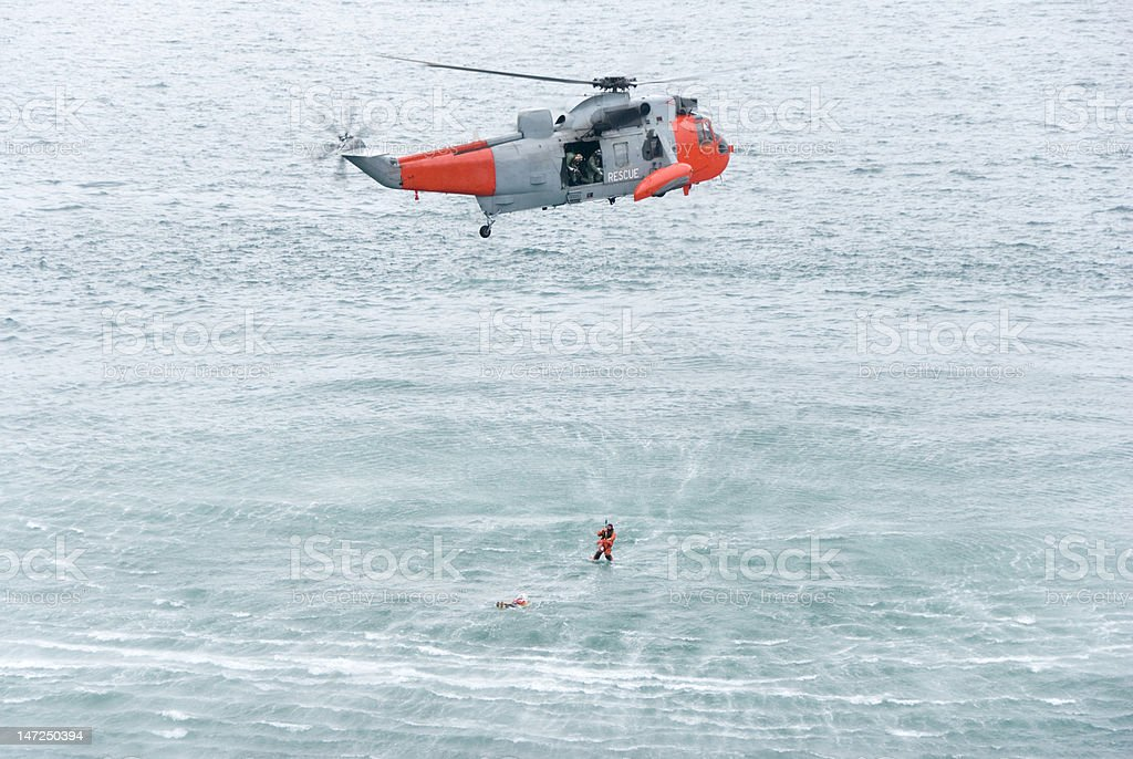 Sea Rescue stock photo