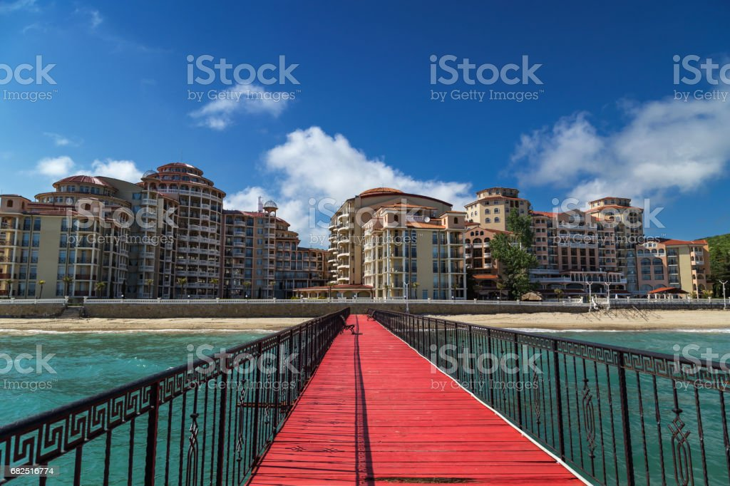 Sea resort Elenite on the Bulgarian Black Sea coast royalty-free stock photo